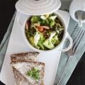 Brokkoli Avocado Salat {flowers on my plate}