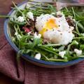 Fruchtiger Linsensalat mit pochiertem Ei {flowers on my plate}