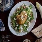 Pear & Chicorée Winter Salad {flowers on my plate} Rezept für Birnen Carpaccio mit Chicorée