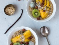 Tropical White Oats {flowers on my plate} Tropische White Oats Rezept