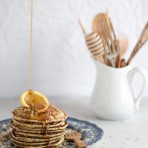 Zitrone Mohn Pancakes {flowers on my plate} Lemon & Poppyseed Pancakes