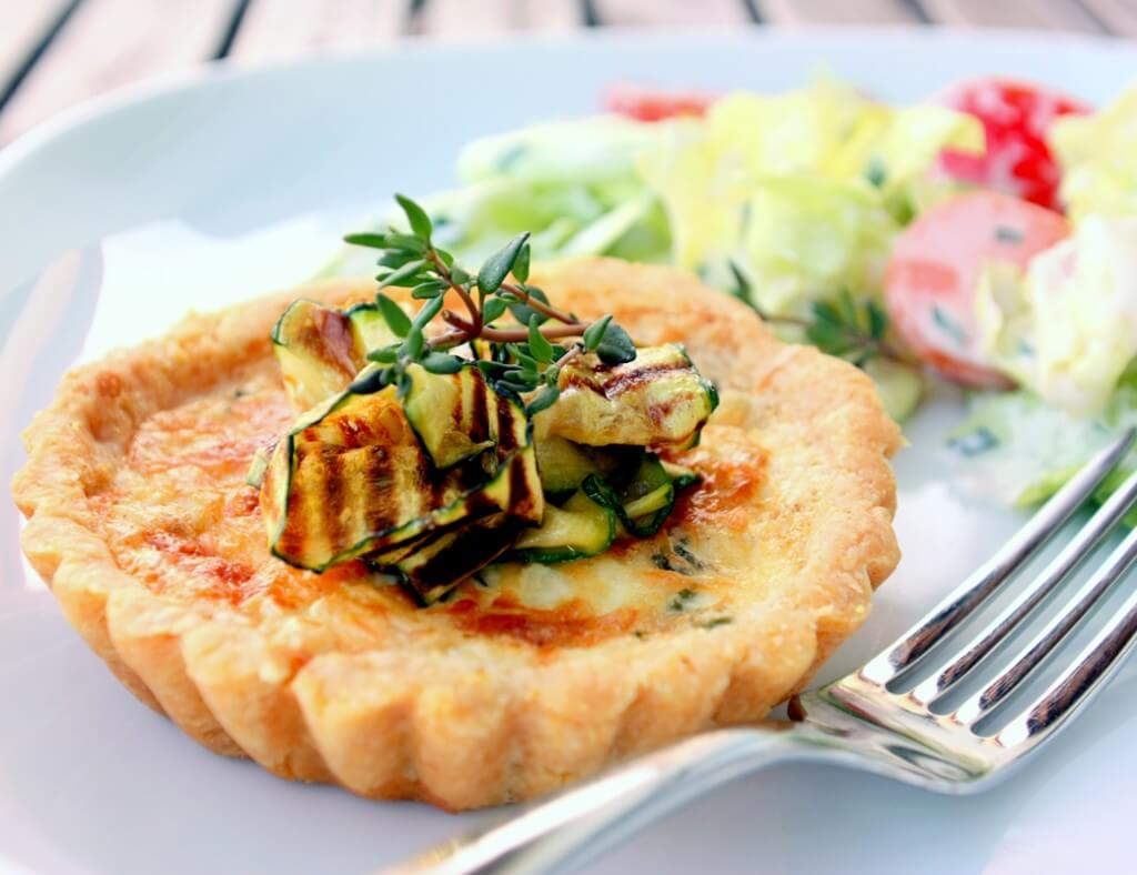 Zucchini Polenta Tartelettes {flowers on my plate}