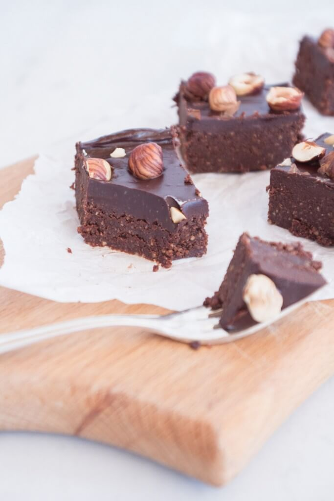 Rezept für vegane Haselnuss Brownies