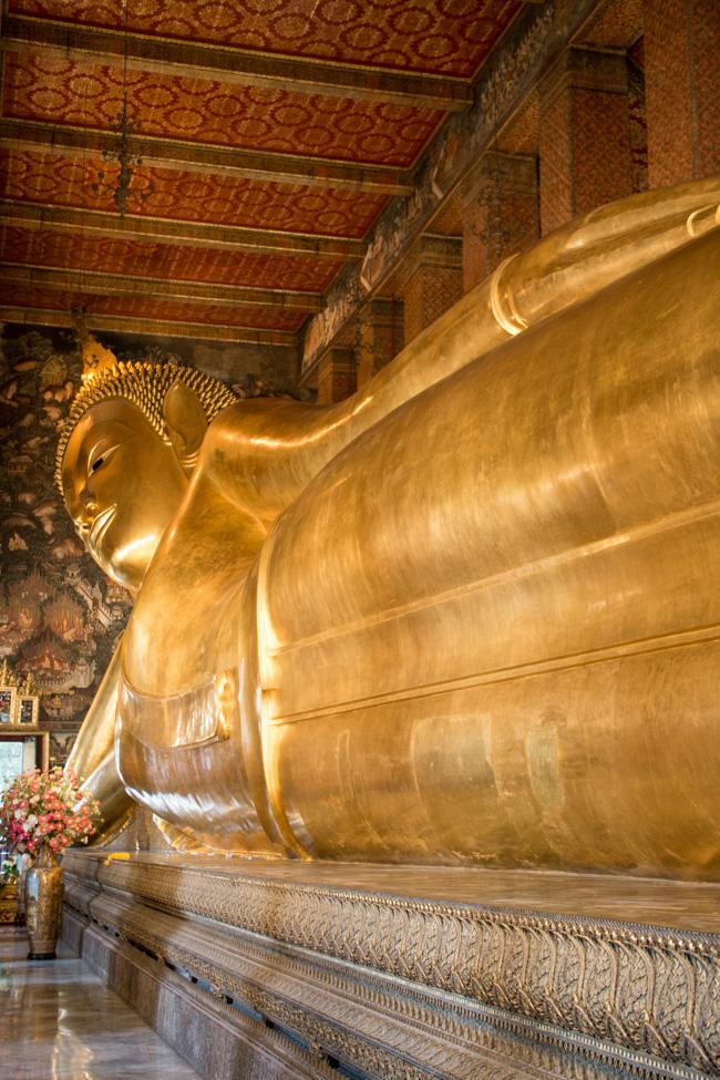 Wat Pho Buddha, Bangkok, Thailand {flowers on my plate}
